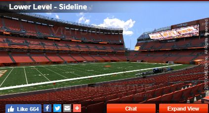 2 Cleveland Browns vs New York Jets Tickets 920 Lower Level: $0.99  for cheap