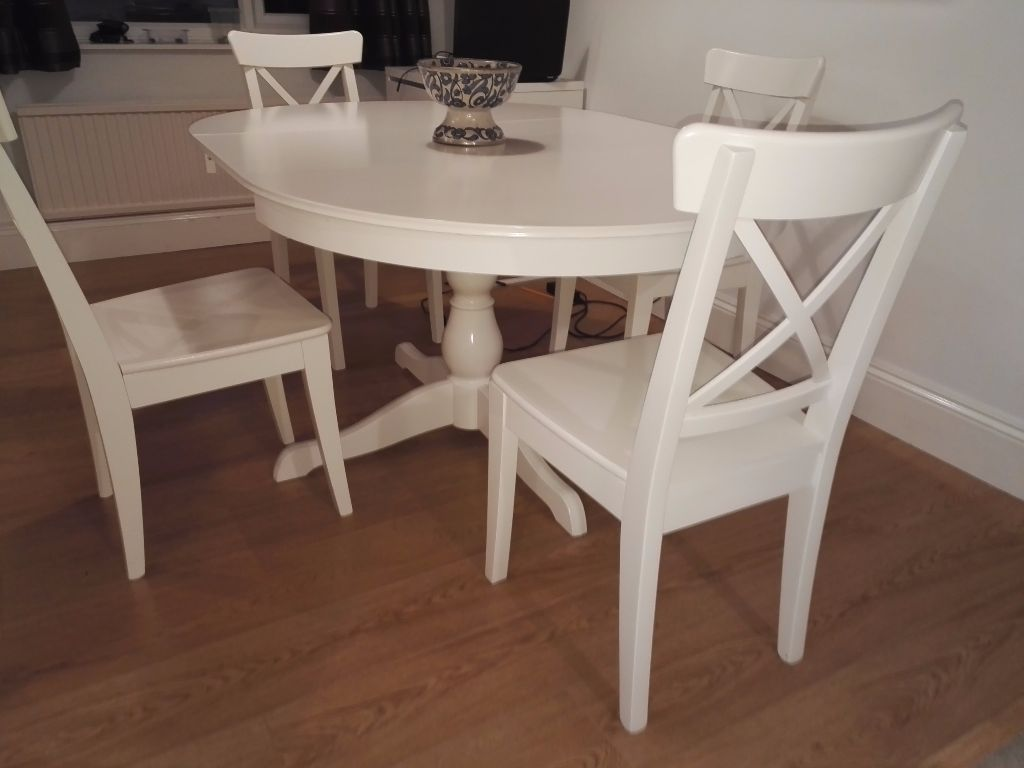Ikea Dining Room Set Ingatorp Table Ingolf Chairs Excellent Sets