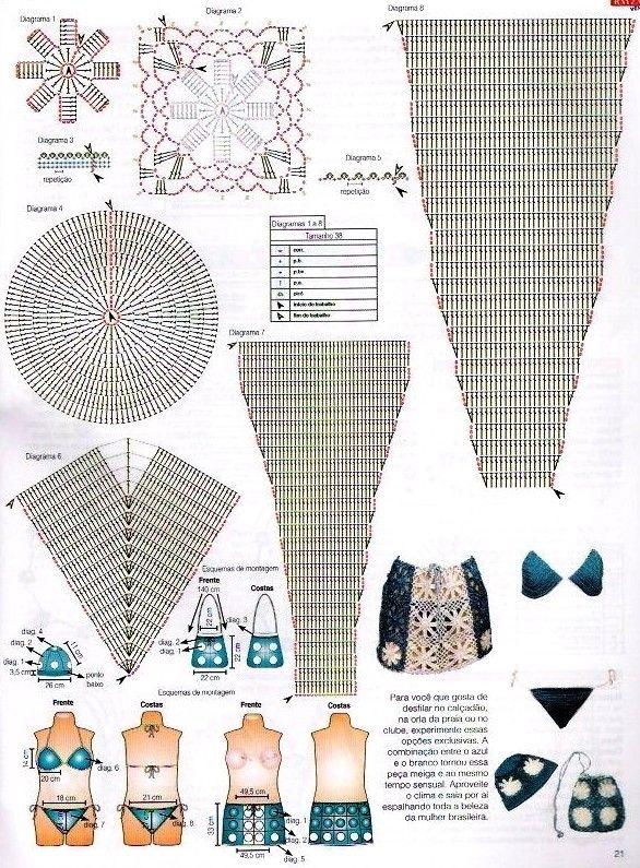 Bikini Very nice pattern | crochet swimmwear | Pinterest | Baño ...
