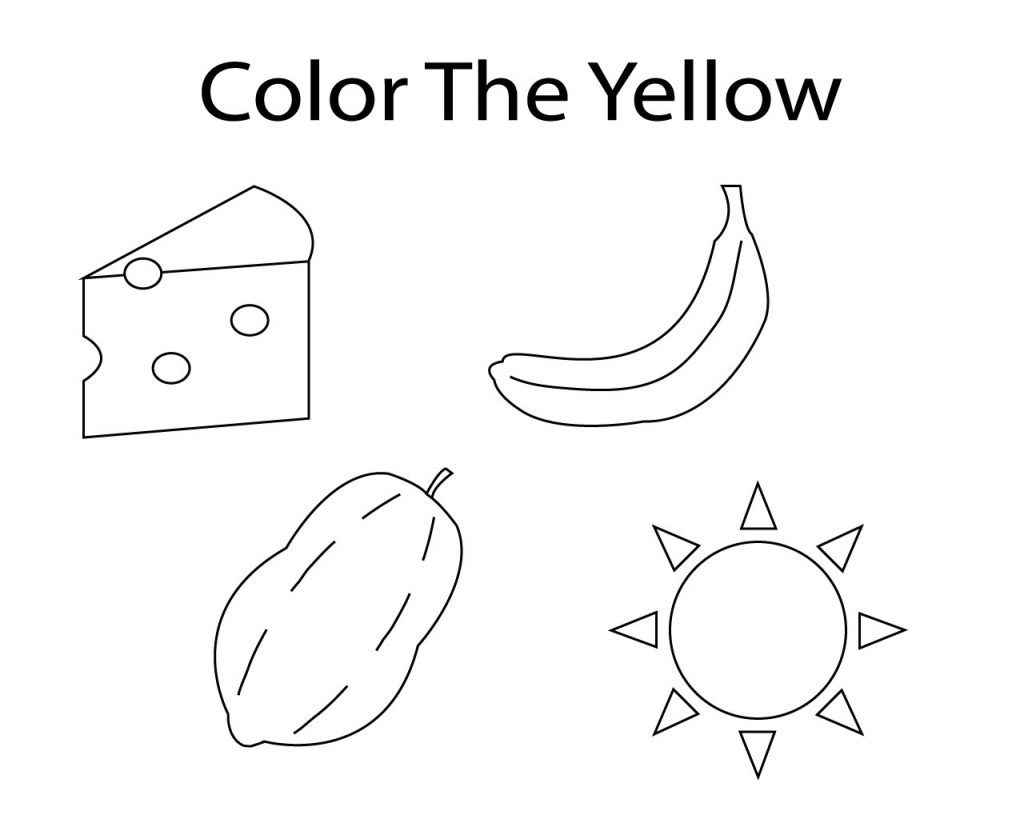 Fantastic Yellow Coloring Pages For Toddler Printables Coloring
