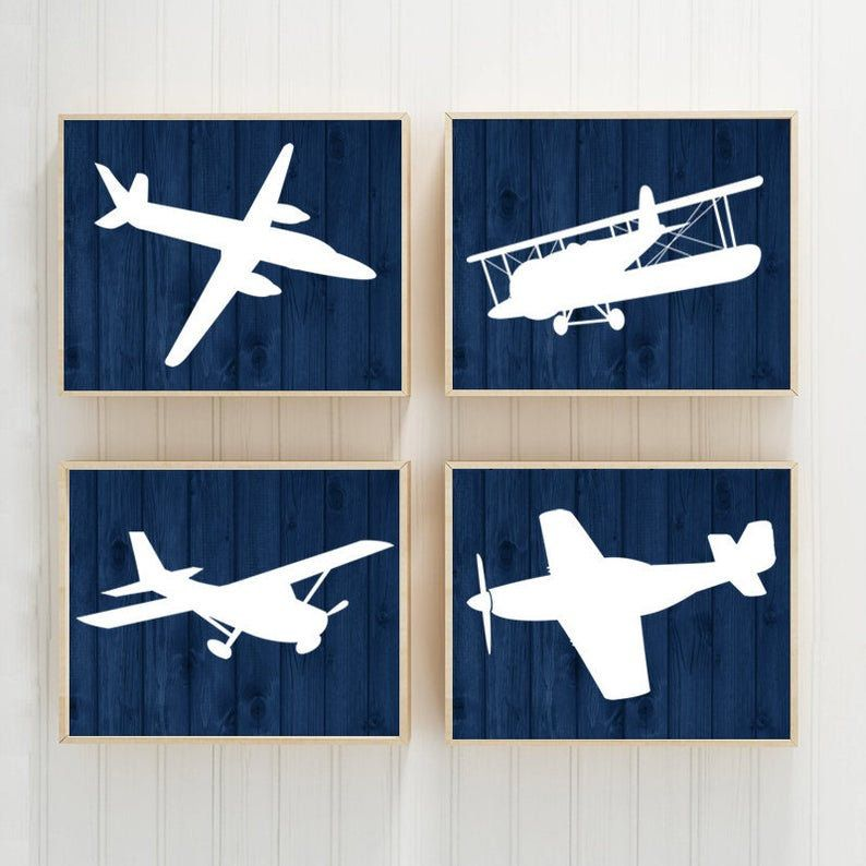 Airplanes Wall Art Prints Or Canvas Baby Boy Nursery Decor Etsy In 2021 Airplane Nursery Boy Airplane Wall Art Airplane Nursery Decor