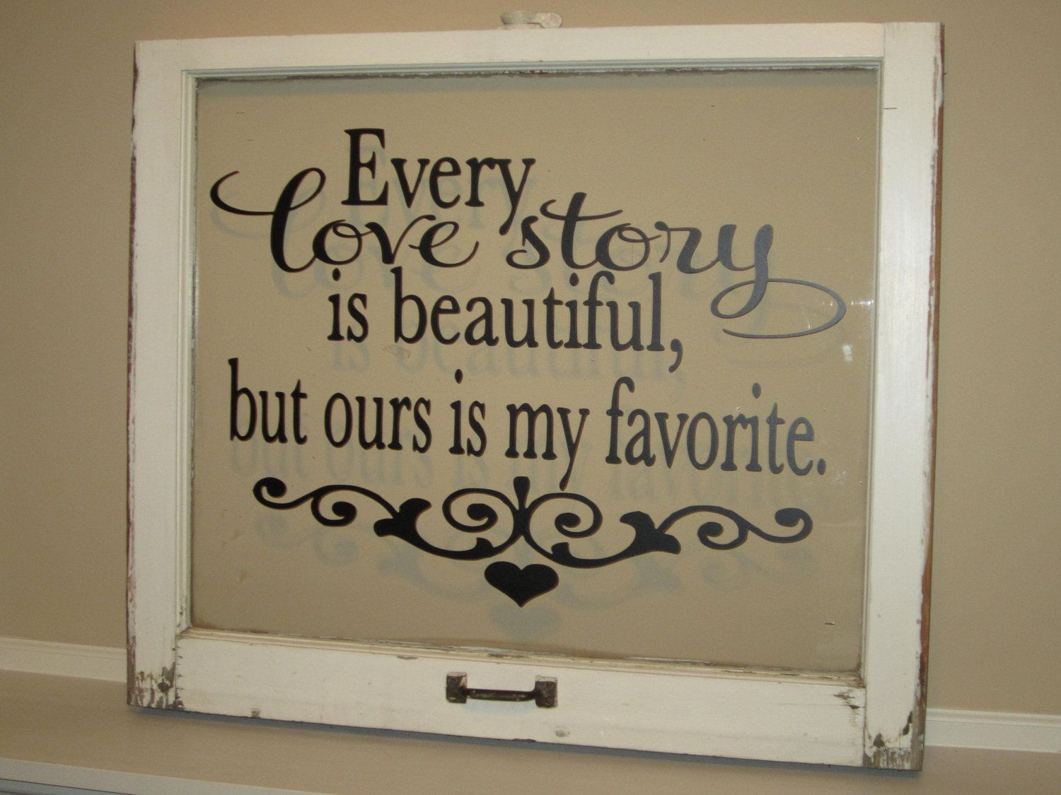 Vinyl lettering decals for crafts - Every Love Story Is Beautiful But Ours Is My Favorite Vinyl Wall Decal 26 00