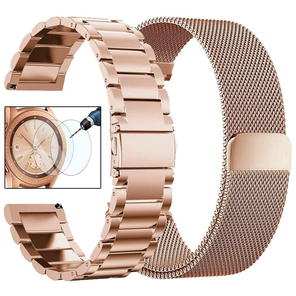 4c0ce7400bb CAGOS Compatible Galaxy Watch (42mm) Bands Rose Gold Sets Women ...