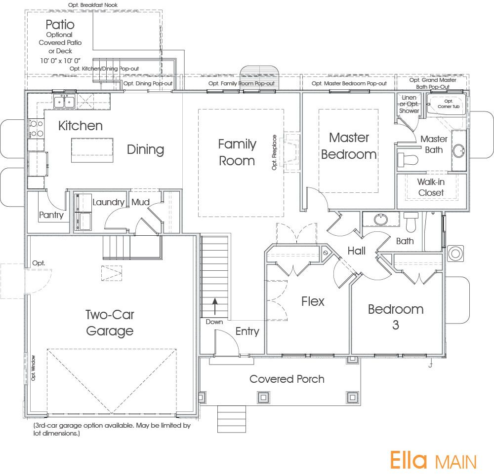 Custom Home Design Utah: Edge Homes No Powder - Good Layout - Porch