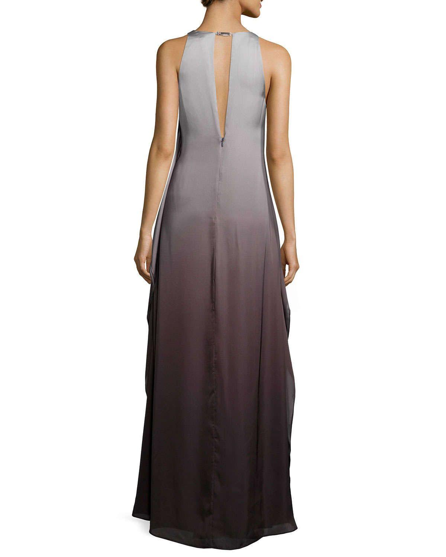 Sleeveless Ombre Evening Gown, Black/Silver | Femme | Pinterest ...