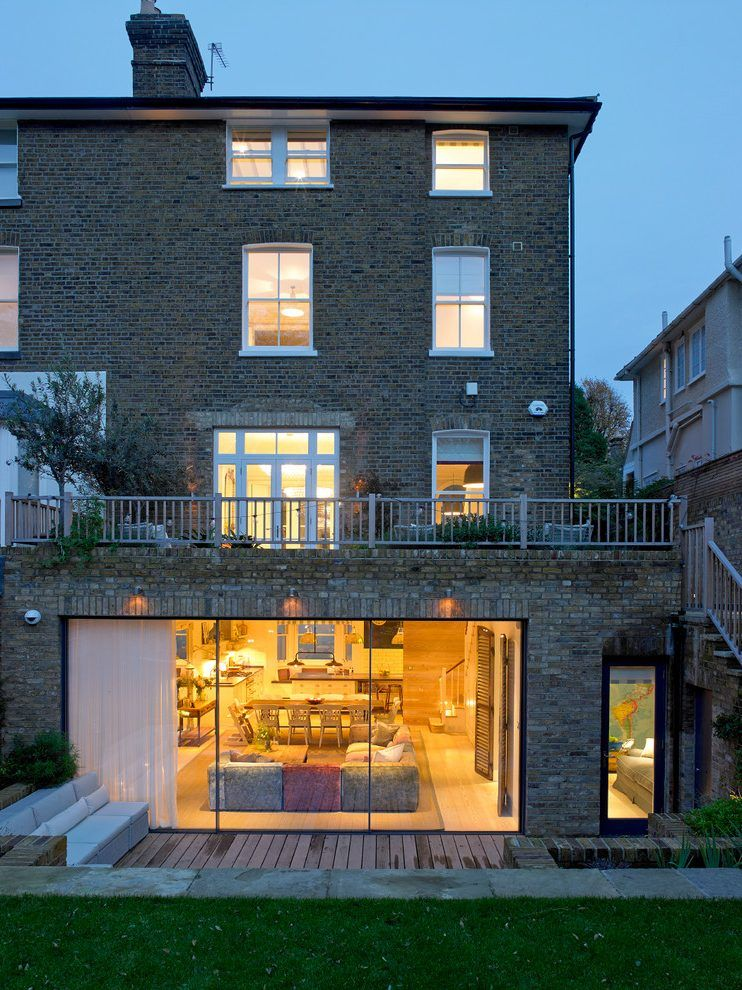 Semi-detached-house-extension-ideas-exterior-victorian-with-sky-frame-windows-victorian-home-roof-deck.jpg  (742990) | basement | Pinterest | Basement ...