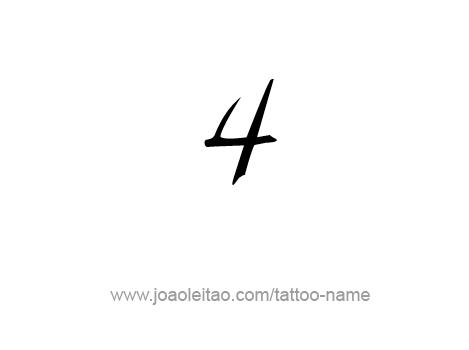 Tattoo Design Number Four Name Tattoos Tattoos Tattoo Designs