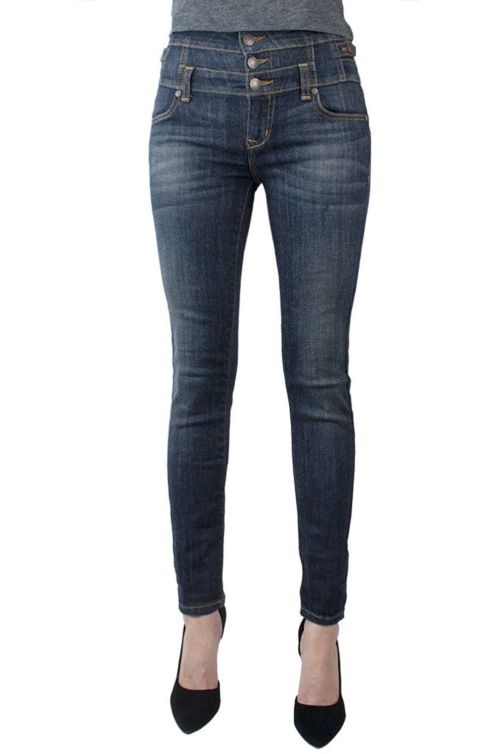 5f25e5432 Eunina Women's Plus Size High Waisted Stretch Skinny Jeans Dark Blue --  Don't get left behind, see this great product : Plus size jeans