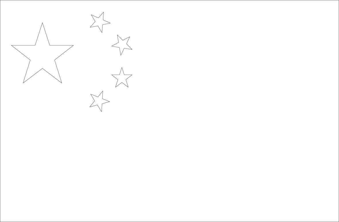 China Flag Coloring Pages 776