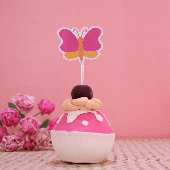 Topper para doces - borboleta