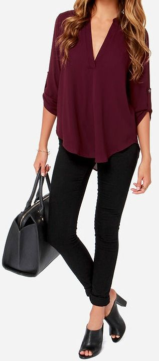 7b58f22f53 V-sionary Burgundy Top