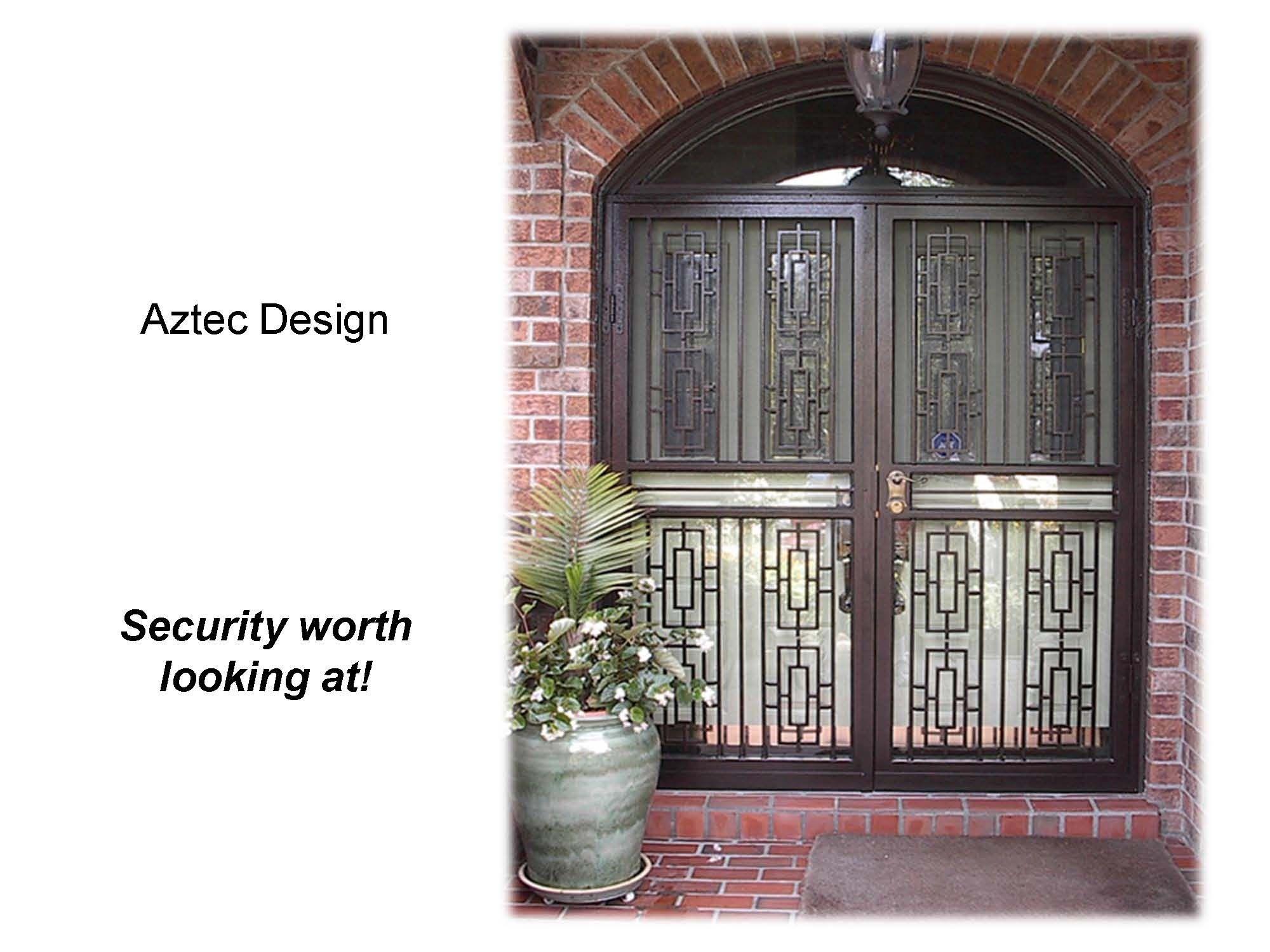 Page 8 Aztec Double Door With Transom www.MetalexDoors.com  #securitydoors #Door #security #Stormdoors #physicalsecurity #crimeprevention