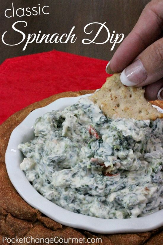 Classic Spinach Dip | Pocket Change Gourmet