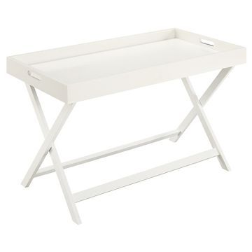 Baja Coffee Table with Removable Tray - White - Convenience Concepts