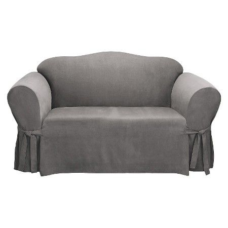 Sure Fit Soft Suede Loveseat Slipcover Target Loveseat Slipcovers Slipcovers Loveseat Covers