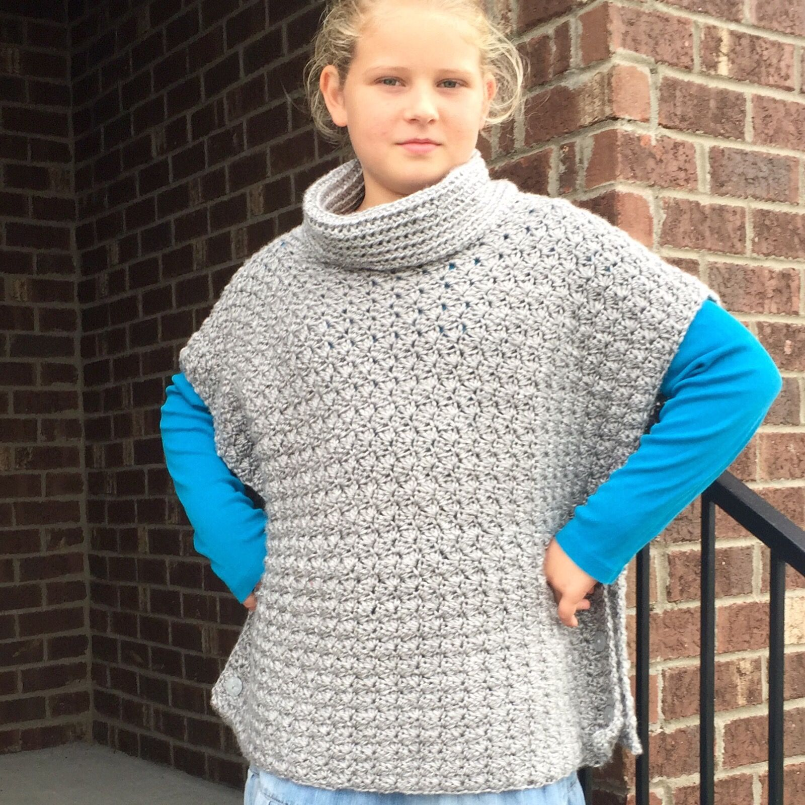 Crochet pattern fiona poncho with cowl for babies girls teen fiona poncho for girls bankloansurffo Choice Image