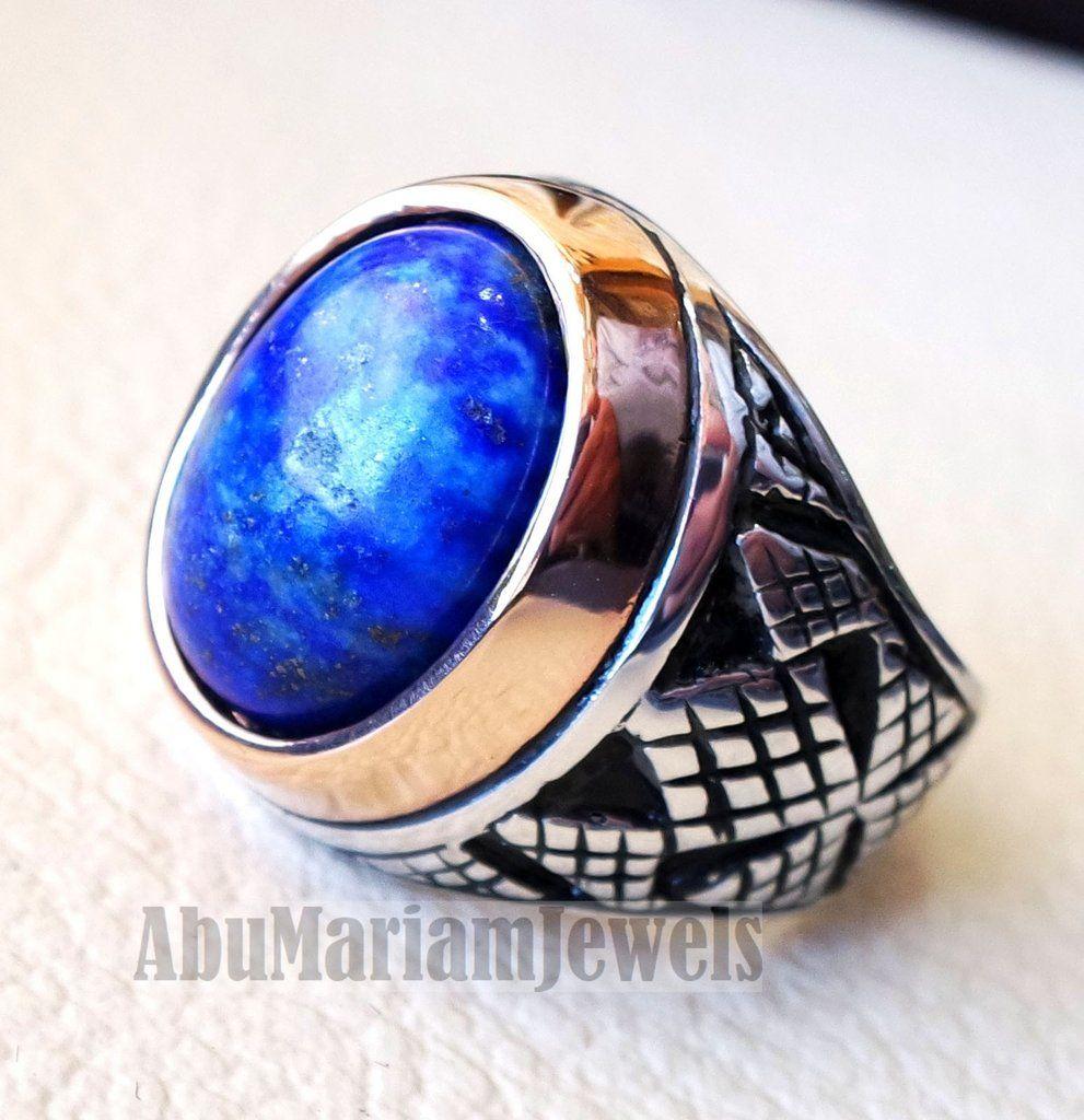 52 Gr Silberring 925 Silber mit  Lapis-Lazuli