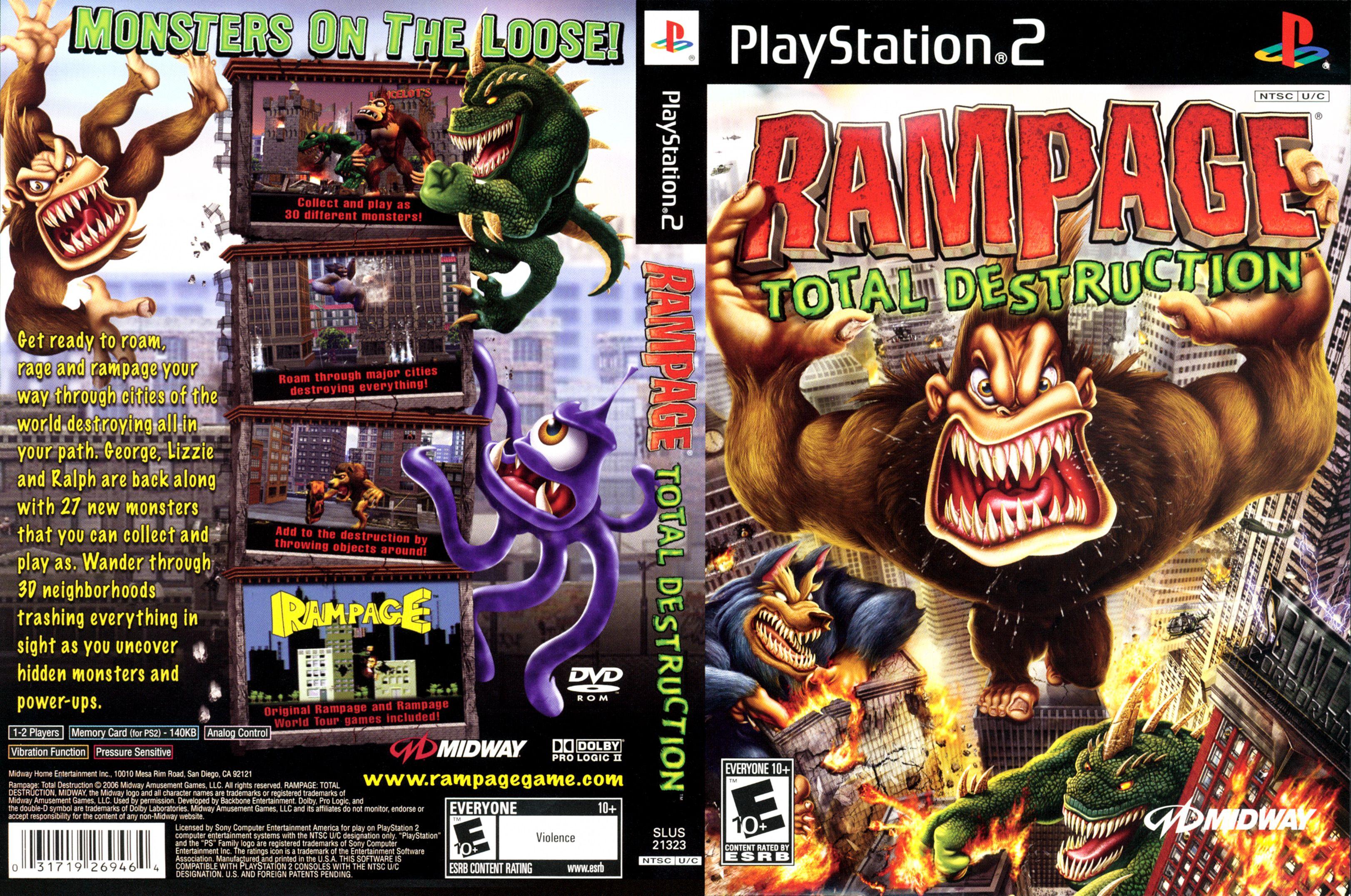 Rampage Ps2 Google Search Rampage Total Destruction Rampage