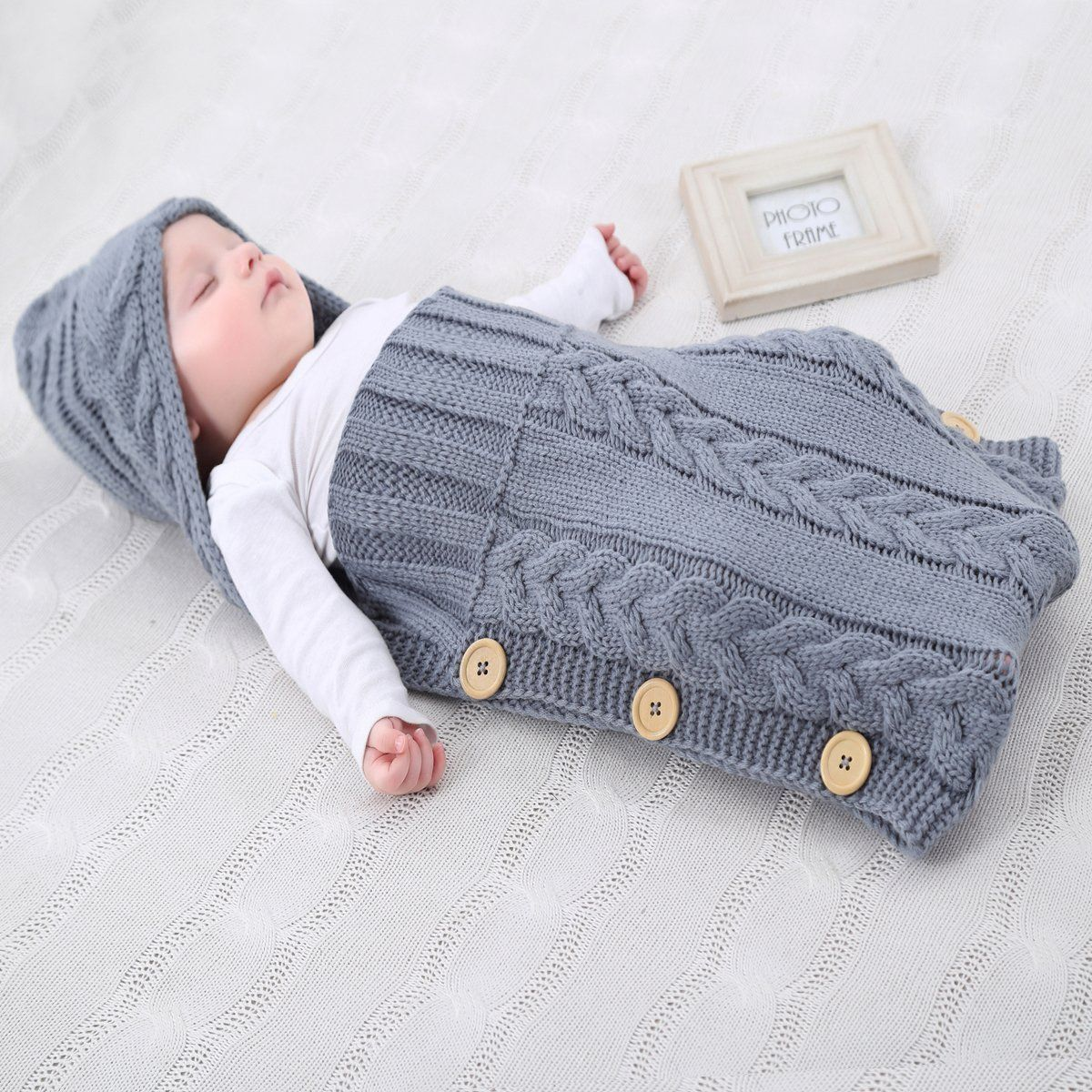 neugeborenes babydecke wrap swaddle decke soonhua baby kinder kleinkind wolle knit decke. Black Bedroom Furniture Sets. Home Design Ideas