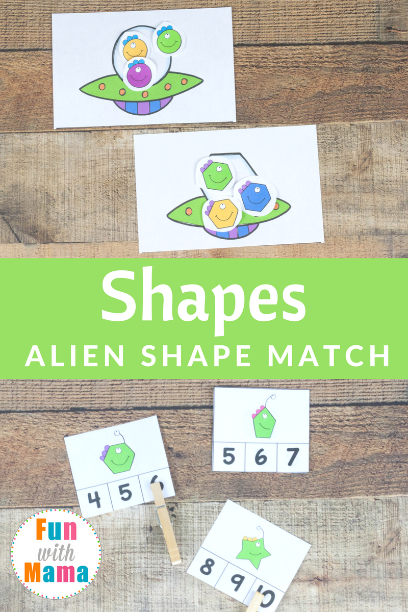 Alien Shapes For Kids Activities | Learning shapes, Shapes ...