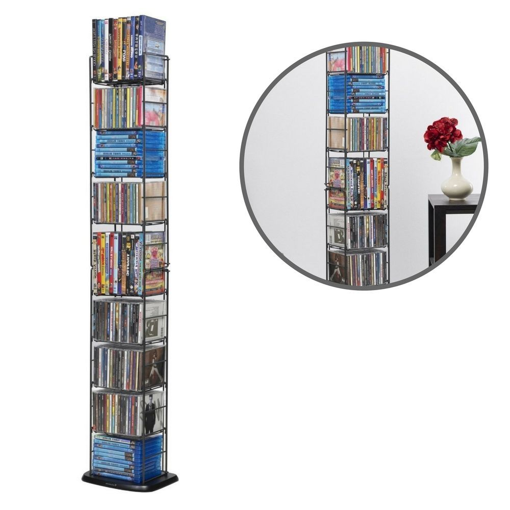 Durable Folding CD Tower Organizer Holder Storage Rack Wall Shelving DVD  Unit #DurableFoldingCDTower #Contemporary