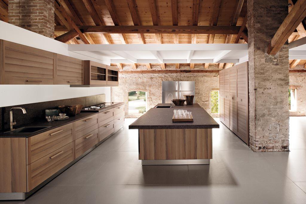 Vorrei... | Cucine con isola - legno | Pinterest | Cucine, Legno e ...