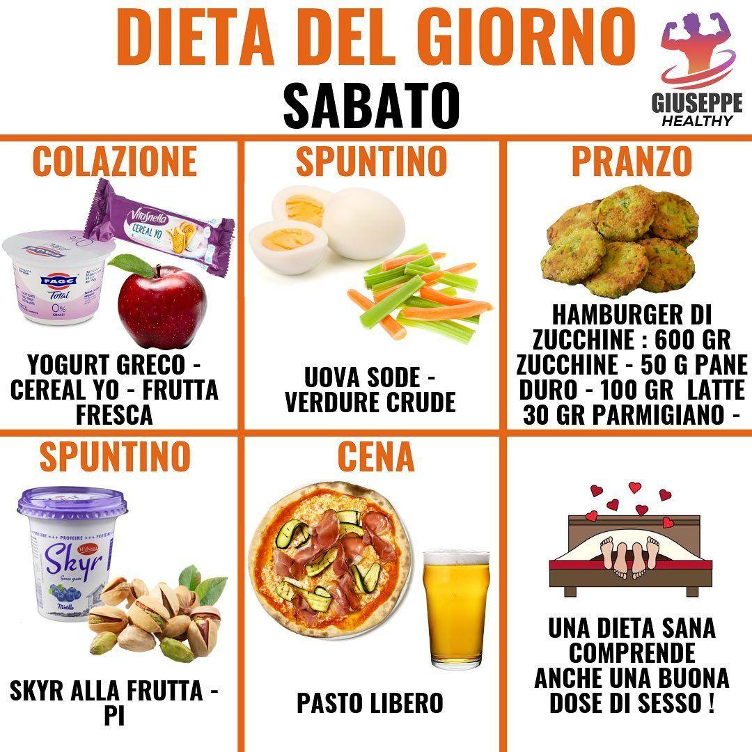 """Giuseppe Healthy on Instagram: """"DIETA DEL SABATO 👆 . Buon weekend a tutti, oggi pubblico l'ultima dieta della settimana. Il sabato preferisco pubblicare sempre idee pasti…"""""""