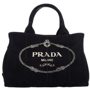 Prada Shoulder Bag - Canapa Shopping Bag Nero - in black - Shoulder Bag for ladies