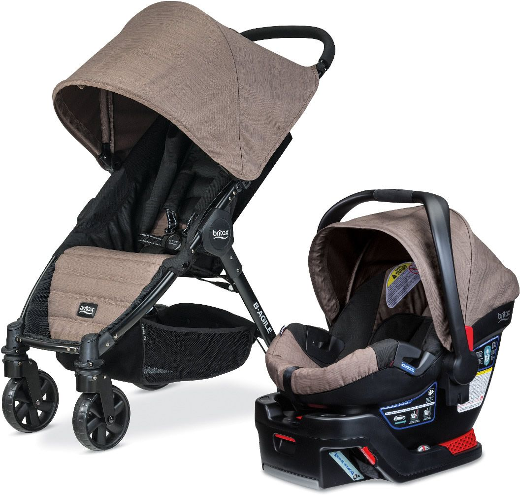 Britax BAgile 4 & BSafe 35 Travel System Fossil Brown