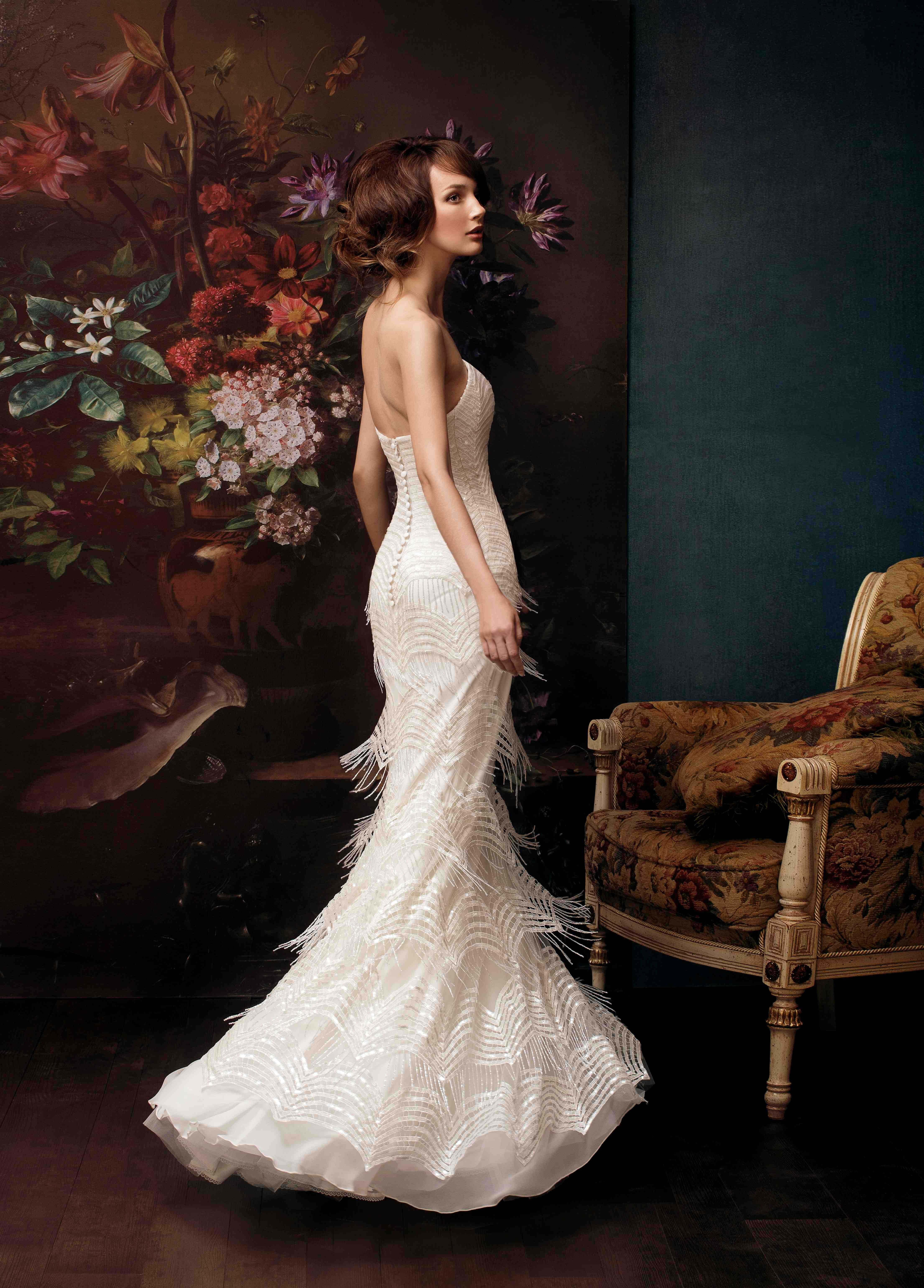 The most expensive wedding dress  A breathtaking luxurious silhouette emphasizes brideus figure