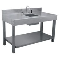 Aluminum Table With Sink