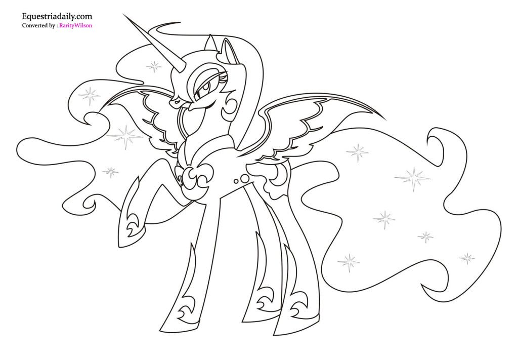 Cute Unicorn Coloring Page Free My Little Pony Coloring Moon Coloring Pages Unicorn Coloring Pages