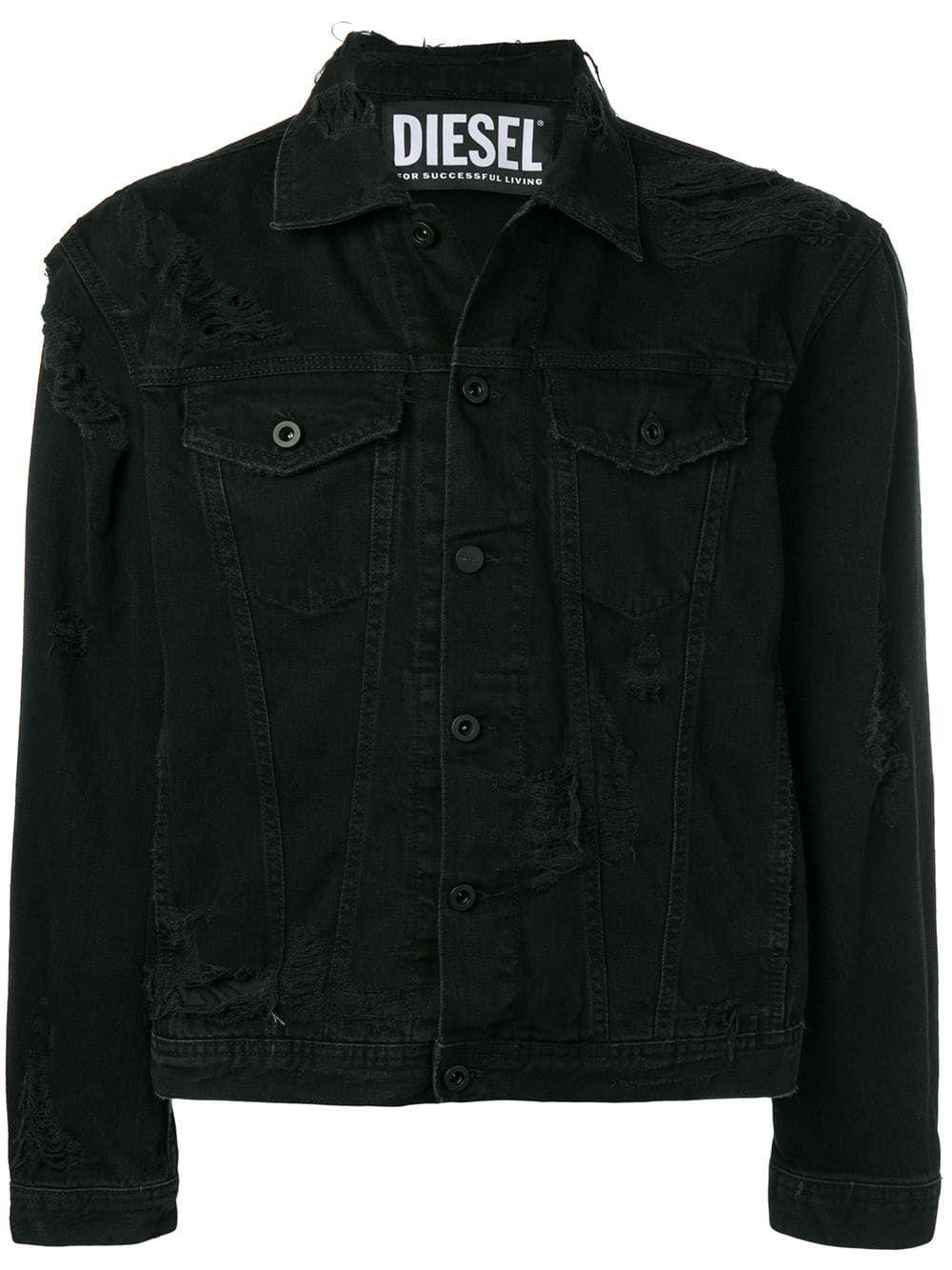 Diesel Distressed Denim Jacket Farfetch Distressed Denim Jacket Black Distressed Denim Jacket Jackets Men Fashion [ 1334 x 1000 Pixel ]