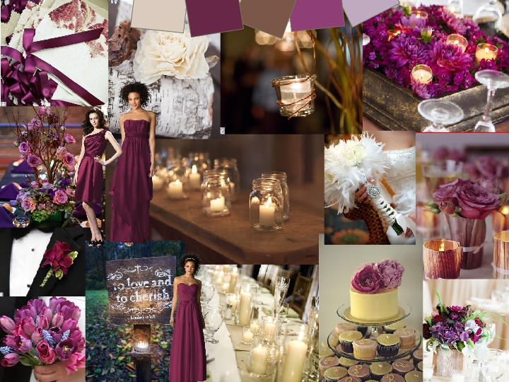 Berry Woods Pantone Wedding Styleboard The Dessy Group