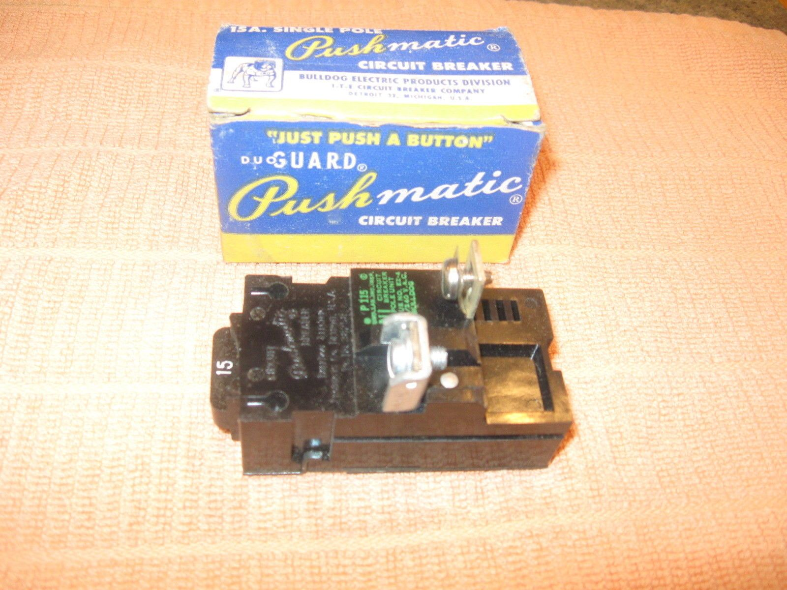 medium resolution of circuit breakers and fuse boxes 20596 pushmatic p115 bulldog 15 amp ite gould single pole