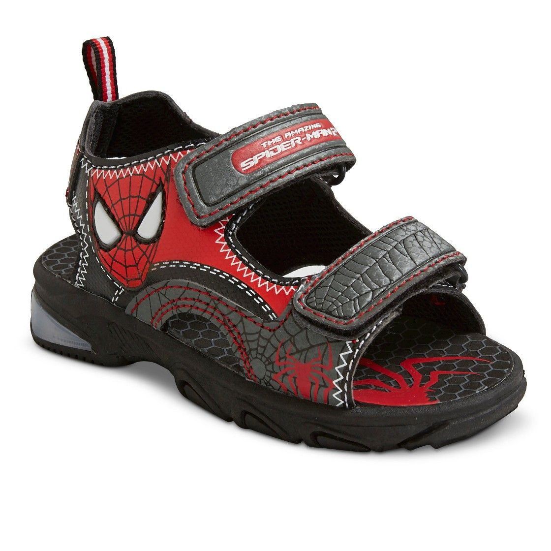 Toddler Boy s Spiderman Light Up Sandals - Black | Black ...