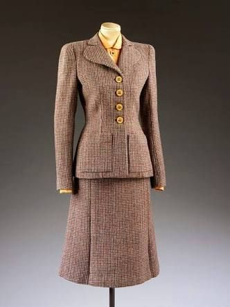 eaba4c088f7a Image result for tweed suit ladies style | 1940s | Fashion, 40s ...