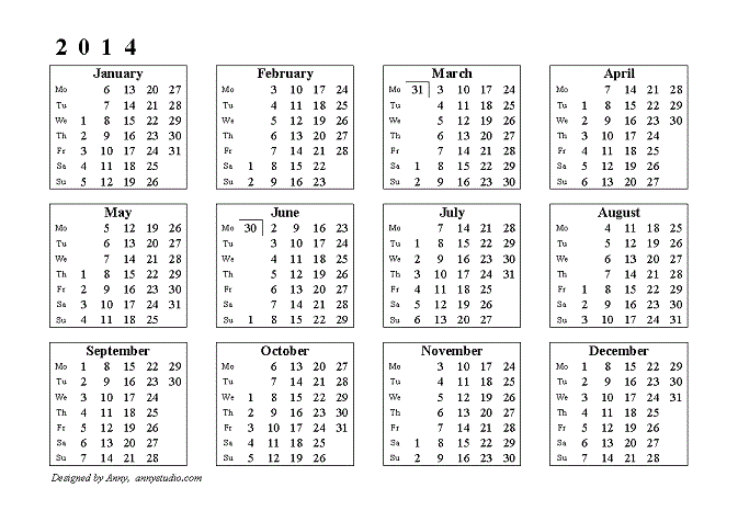 Calendar 2014 Hd Wallpapers Backgrounds 2014 Pinterest