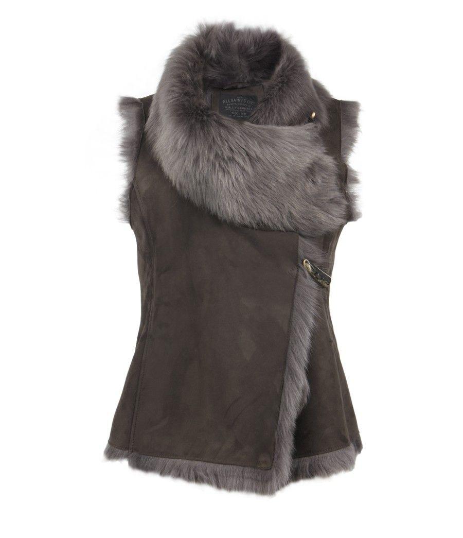 Love this style Pelt Gilet, Women, Leather, AllSaints Spitalfields