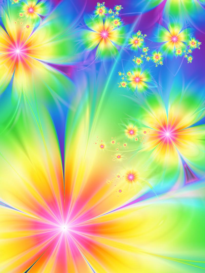rainbow flowers Flowers of rainbow by *svetsvet on