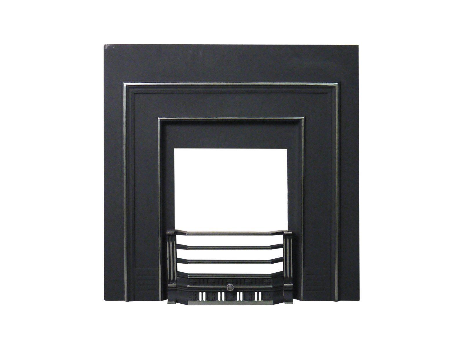 Britannic Cast Iron Fireplace Back Panel Set, 38 Inch | Fireplace ...