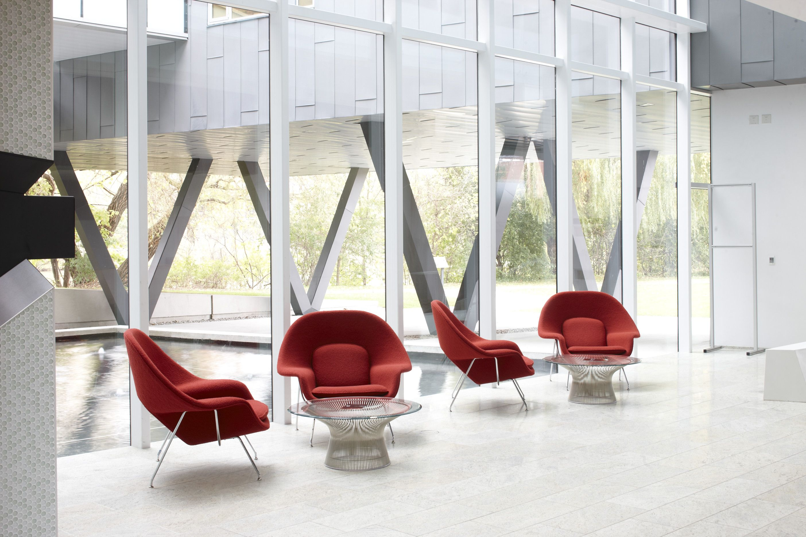 Saarinen Womb Chairs and Platner Coffee Tables