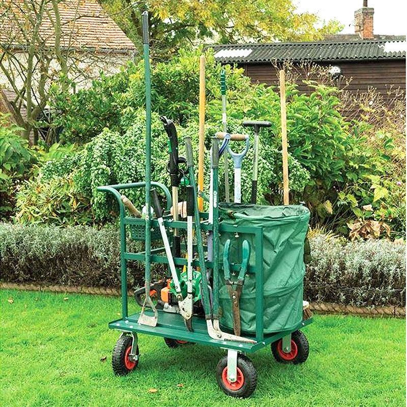 Garden Tool Cart Trolley Storage Gardening Practical Truck Working