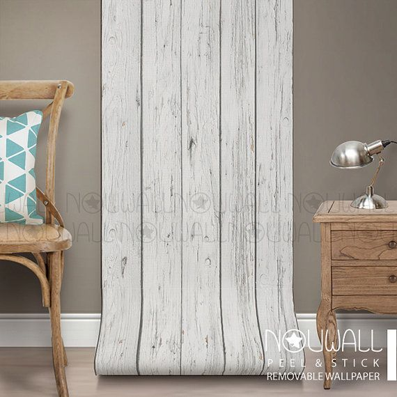 Grey Wood peel u0026 stick wallpaper will transform your wall and the look of your interior & Grey Wood Texture Wallpaper peel and stick  home decor  wall decor ...