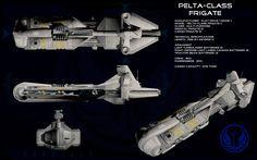 Pelta class frigate ortho by unusualsuspex