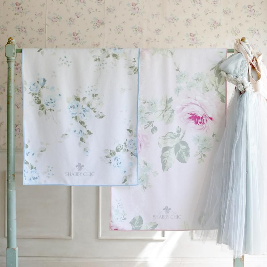 Drying off just got fun. Use Shabby Chic floral towels for bath, beach, travel, swimming, and yoga. Available in three classic prints.