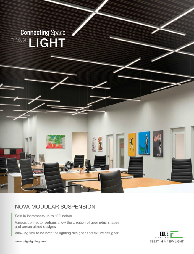 designer edge lighting. Nova Modular Suspension | May 2016 Enlightenment Press Media Designer Edge Lighting