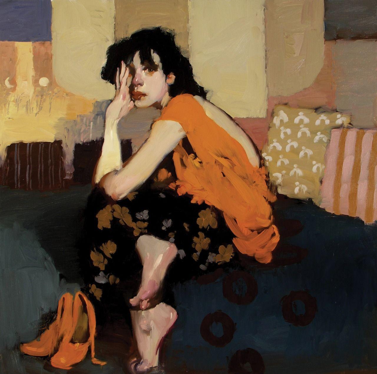 Catmota Comfortable Place Milt Kobayashi Artist Painting Portrait Art Portrait