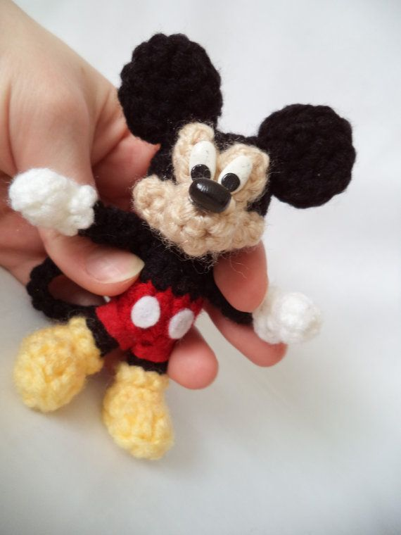 Mickey Mouse Amigurumi By Vitaminjoystitches On Etsy Muñecos