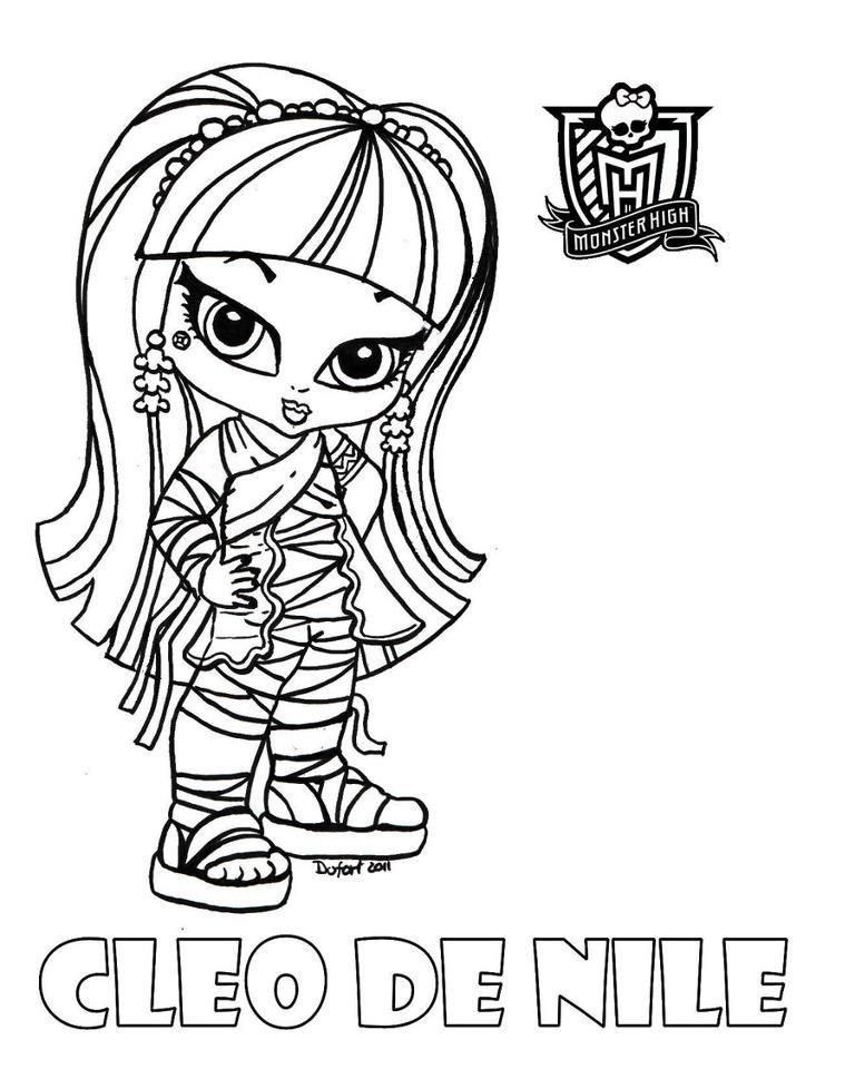 Cleo De Nile Coloring Page For Monster High Themed Birthday Party ...